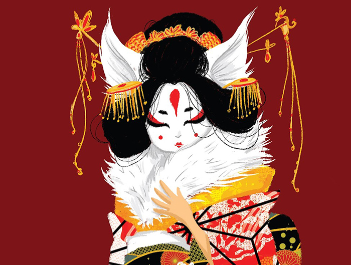 kitsune Geisha-closeup